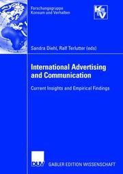 Cover of: International Advertising and Communication | Sandra; Ralf Terlutter (eds.) Diehl