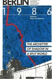 Cover of: The archetype of shadow in a split world | International Congress for Analytical Psychology (10th 1987 Berlin, Germany)