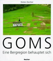 Cover of: Goms | Dieter Zürcher