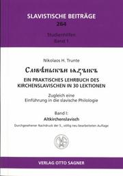 Cover of: Slověnʹskʺi i͡a︡zykʺ by Nikolaos Trunte