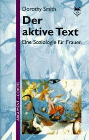 Cover of: Der aktive Text by Dorothy E. Smith