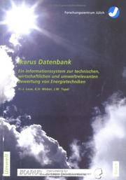 Cover of: IKARUS-Datenbank by Hans-Jürgen Laue