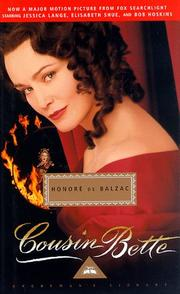 Cover of: Cousin Bette (Everyman's Library, 15) | Honoré de Balzac