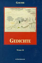 Cover of: Gedichte (Works Volume 10) by Johann Wolfgang von Goethe