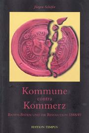 Cover of: Kommune contra Kommerz by Schäfer, Jürgen