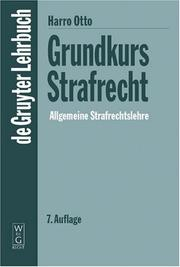 Cover of: Grandkurs Strafrecht by Harro Otto