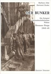 Cover of: Der Bunker | Barbara Johr