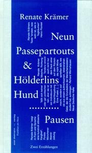 Cover of: Neun Passepartouts & Hölderlins Hund ; Pausen by Renate Krämer