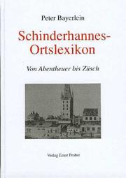 Cover of: Schinderhannes-Ortslexikon by Peter Bayerlein