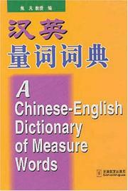 Cover of: A Chinese-English Measure Words Dictionary | Jiao Fan