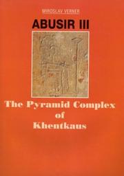 Cover of: Abusir III by M. Verner