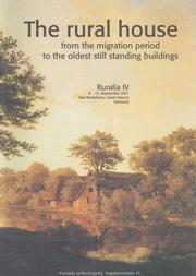 Cover of: The Rural House, from the Migration Period to the Oldest Still Standing Buildings (Ruralia) | J. Klapste