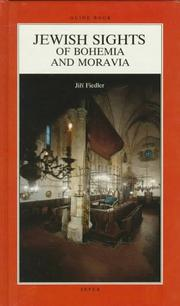 Cover of: Jewish Sights of Bohemia and Moravia | Jiri Fiedler