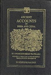 Cover of: Ancient Accounts of India and China | E. RENAUDOT