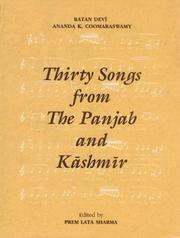 Cover of: Thirty Songs from the Punjab and Kashmir | Premlata Sharma