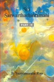Cover of: Sri Sarwarthachintamani | Sri Venkatesha Daivagna