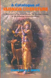 Cover of: A Catalogue of Vaishnava Literature | Charles S.J. White