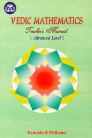 Cover of: Vedic Mathematics Teacher's Manual, Vol. 3 | Kenneth R. Williams