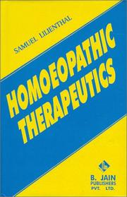 Cover of: Homoeopathic Therapeutics | Samuel Lilienthal