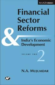 Cover of: Financial Sector Reforms and India's Economic Developemnt | N.A. Mujumdar