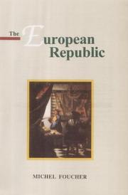 Cover of: The European republic | Michel Foucher