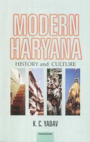 Cover of: Modern Haryana | Kripal Chandra Yadav