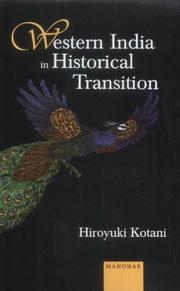 Cover of: Western India in historical transition | Kotani, Hiroyuki