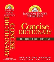 Cover of: Random House Webster's Concise Dictionary by Random House