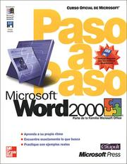 Cover of: Microsoft Word 2000 Paso A Paso | Catapult