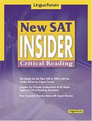 Cover of: New SAT Insider | Lingua Forum Project Team