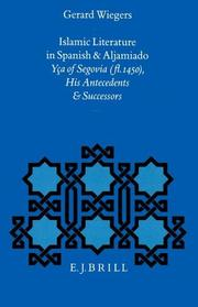 Cover of: Islamic literature in Spanish and Aljamiado | Gerard Albert Wiegers