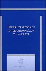 Cover of: Finnish Yearbook of International Law 2001 (Finnish Yearbook of International Law) | Martti Koskenniemi