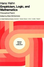 Cover of: Empiricism, logic, and mathematics | Hans Hahn