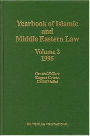 Cover of: Yearbook of Islamic and Middle Eastern Law, 1995, Vol. 2 (Yearbook of Islamic & Middle Eastern Law) | Eugene Cotran
