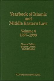 Cover of: Yearbook of Islamic and Middle Eastern Law 1997/1998 (Yearbook of Islamic & Middle Eastern Law) | Eugene Cotran