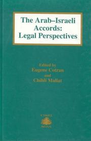 Cover of: The Arab-Israeli Accords:Legal Perspective (Cimel Book Series, 1) | Eugene Cotran