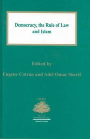 Cover of: Democracy:The Rule of Law and Islam (Cimel Book Series, 6.) | Eugene Cotran