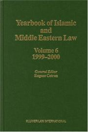 Cover of: Yearbook of Islamic and Middle Eastern Law, 1999-2000 (Yearbook of Islamic and Middle Eastern Law) | Eugene Cotran