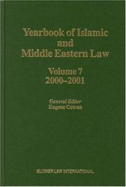 Cover of: Yearbook of Islamic and Middle Eastern Law, 2000-2001 (Yearbook of Islamic & Middle Eastern Law) | Eugene Cotran