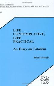 Cover of: Life Contemplative, Life Practical | Helena Eilstein