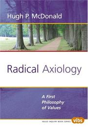 Cover of: Radical Axiology | Hugh P. McDonald