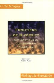 Cover of: Frontiers of Diversity | Avery Plaw