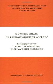 Cover of: GUnter Grass by Gerd LABROISSE Dick Van Stekelenburg