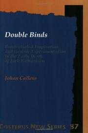 Cover of: Double Binds | Johan Callens