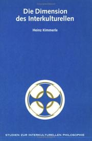Cover of: Die Dimension des Interkulturellen | Heinz Kimmerle