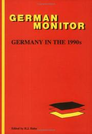 Cover of: Germany In The 1990s.(German Monitor 34) (German Monitor ; 34) | Hans J. Hahn