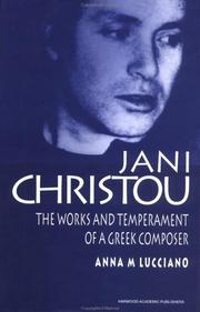 Cover of: Jani Christou by Anna-Martine Lucciano