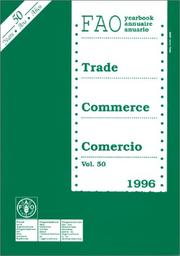 Cover of: Fao Trade Yearbook, 1996 | Food and Agriculture Organization of the United Nations