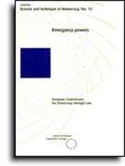 Cover of: Emergency powers (Science and Technique of Democracy No. 12) (1995) by European Commission for Democracy through Law