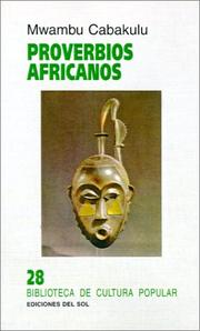 Cover of: Proverbios africanos by Adolfo Colombres